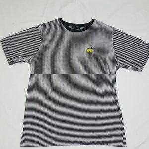 Black & White Stripes Lemon Embroidered T-Shirt
